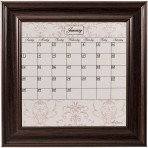 Small Contrast Calendar Board Framed Brown