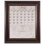 Medium Contrast Calendar Board Framed Brown