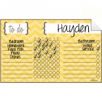 Chore Chart Decal Chevron Yellow