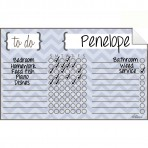Chore Chart Decal Chevron Blue