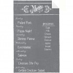 Dry Erase Menu Decal Gray