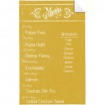 Dry Erase Menu Decal Yellow