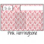 Chore Chart Magnet Herringbone Pink