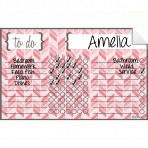 Chore Chart Decal Herringbone Pink