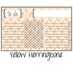 Chore Chart Magnet Herringbone Yellow