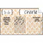 Chore Chart Decal Herringbone Yellow