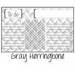 Chore Chart Magnet Herringbone Gray