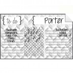 Chore Chart Decal Herringbone Gray