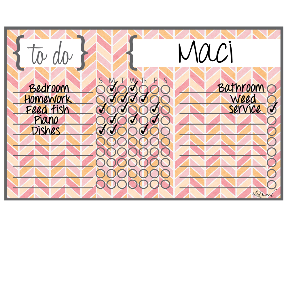 Chore Chart Magnet Herringbone Multi-Color