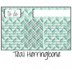 Chore Chart Magnet Herringbone Teal