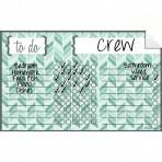 Chore Chart Decal Herringbone Teal