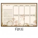 Weekly Calendar Magnet Floral