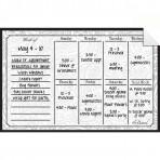 Weekly Calendar Decal Paisley
