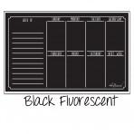 Weekly Calendar Magnet Black