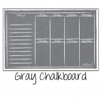 Weekly Calendar Magnet Gray