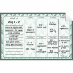 Weekly Calendar Decal Teal Herringbone