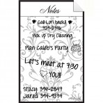 Message Board Decal Gray Damask