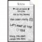 Message Board Decal Paisley