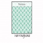 Message Board Magnet Teal Herringbone