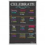 Birthday Board Magnet Black