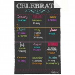 Birthday Board Decal Black