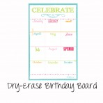 Birthday Board Magnet White