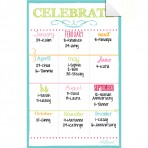 Birthday Board Decal White