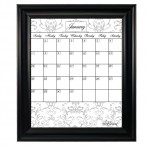 Large Gray Calendar Framed Black