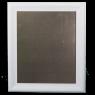 Large Metal Board Framed White Old