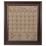 Large Mocha Calendar Board Framed Brown