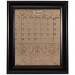 Medium Mocha Calendar Board Framed Black