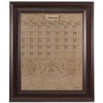 Medium Mocha Calendar Board Framed Brown