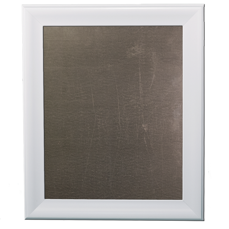 Medium Metal Board Framed White