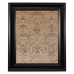 Medium Mocha Message Board Framed Black