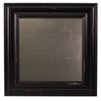 Small Metal Board Framed Wood Black