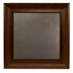 Small Metal Board Framed Bead Brown