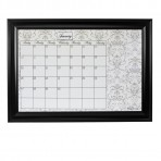 XL Gray Calendar Framed Black