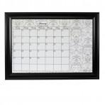 XL Gray Calendar Framed Black