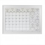 XL Gray Calendar Framed White