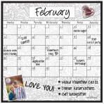 Monthly/Weekly Calendar Magnet Set: Paisley