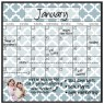 Monthly/Weekly Calendar Magnet Set: Lattice