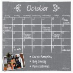 Monthly/Weekly Calendar Magnet Set: Gray Chalkboard