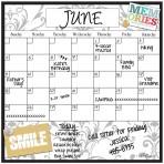Monthly/Weekly Calendar Magnet Set: Gray Damask