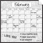 Monthly Calendar Wall Decal (Paisley) + Marker 5 Pack
