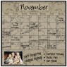 Monthly/Weekly Calendar Magnet Set: Mocha