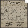 Monthly/Weekly Calendar Wall Decal Set: Mocha