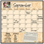 Monthly/Weekly Calendar Magnet Set: Wheat