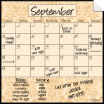 Monthly/Weekly Calendar Wall Decal Set: Wheat