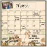 Monthly/Weekly Calendar Wall Decal Set: Floral