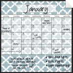 Monthly Calendar Wall Decal (Lattice) + Marker 5 Pack